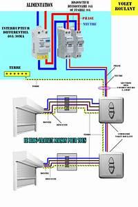 schema electrique du volet roulant le blog travaux With alimentation volet roulant electrique