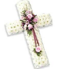 Funeral Flowers Cross Arrangement