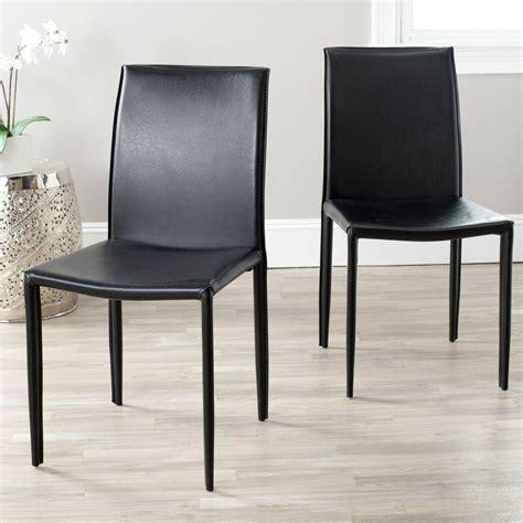 safavieh dining room chairs safavieh karna black bonded leather dining chair fox2009b