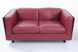Lounge Sofa Leder : zanotta sitzgarnitur 2er sofa sessel leder rot lounge sofa design empfang ebay ~ Watch28wear.com Haus und Dekorationen