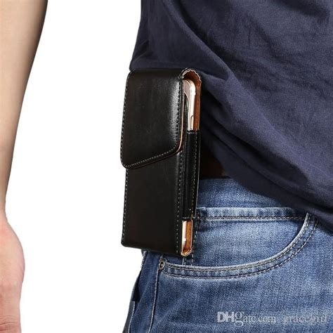 universal clip belt holster hasp leather pouch sleeve case