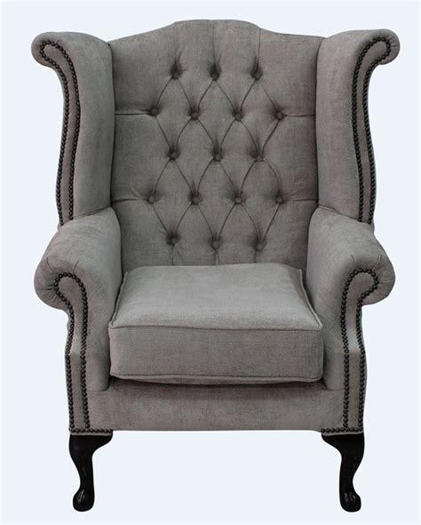 hessian fabric chesterfield high back chair designersofas4u