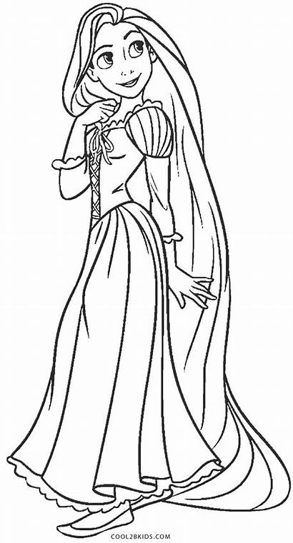 Rapunzel Coloring Pages Printable Drawing