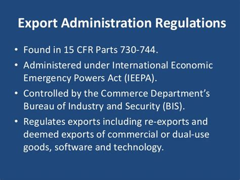 bureau of industry and security bis ear determining license requirements
