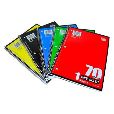 Akhwat Spiral Notebook spiral notebooks wide ruled 002 21070 backpack gear inc