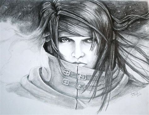 I just wanted a place to upload my everyday drawings. Vincent Ff7 Rendition Drawing by Sharon Branch