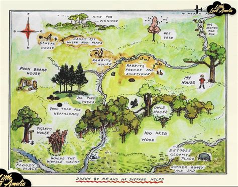 This Is An Awesome Hundred Acre Wood Map