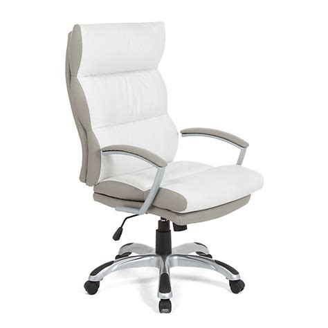 alinea bureau blanc fauteuil de bureau à roulettes en polyuréthane blanc et