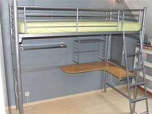 Lit 1 Place Mezzanine : lit mezzanine bureau occasion clasf ~ Teatrodelosmanantiales.com Idées de Décoration