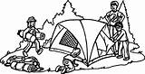 Coloring Camping Tent Sheets Nice Wecoloringpage France sketch template