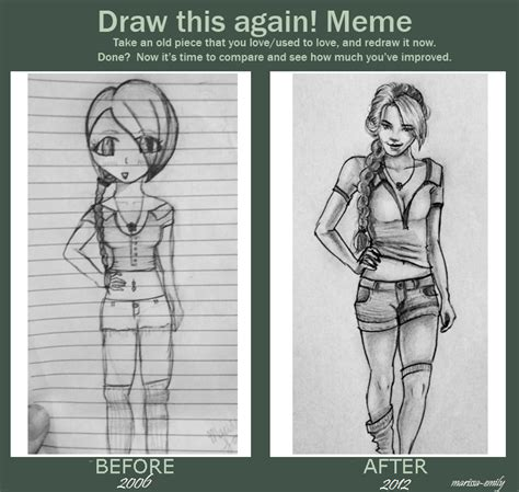 Drawing Meme - draw this again meme by marissa emily on deviantart
