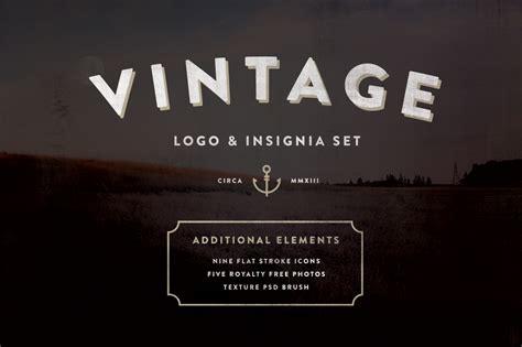 vintage logo insignia starter kit logo templates