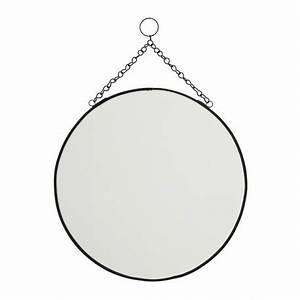 Miroir Rond à Suspendre : miroir rond vintage a suspendre metal noir madam stoltz ib ~ Teatrodelosmanantiales.com Idées de Décoration