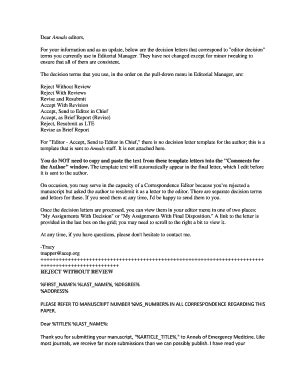 Editor Cover Letter by Editable Dear Editor In Chief Cover Letter Fill Print