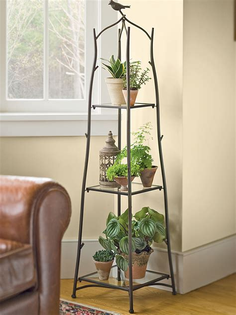 Shabby Chic Kitchen Decorating Ideas - a frame plant stand and tray set ladder plant stand