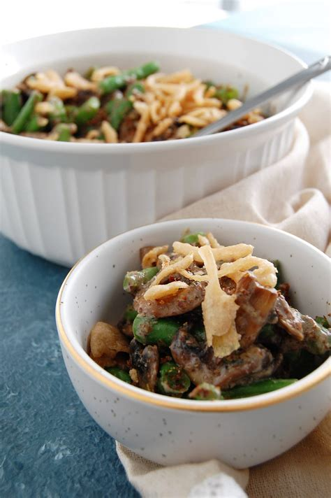 vegan gluten  green bean casserole nutrition  fit