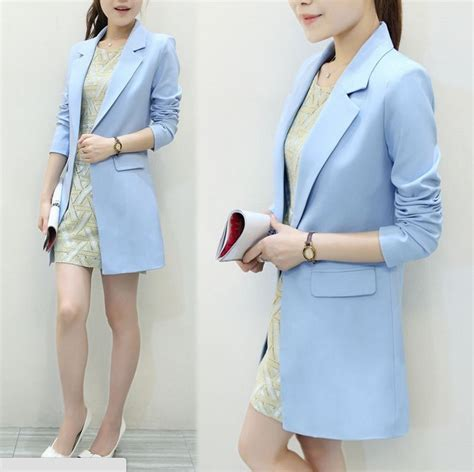 light blue suit womens aliexpress com buy spring autumn formal work wear jacket