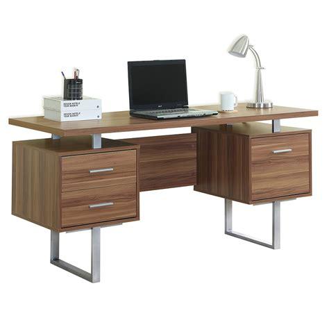 modern desk with drawers modern desks harley walnut desk eurway furniture