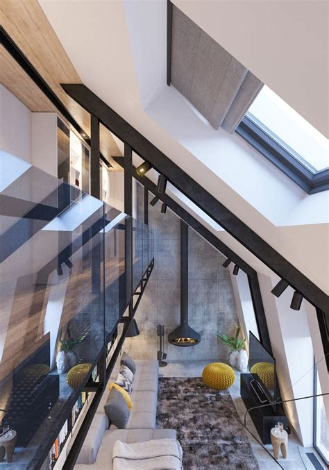 attic conversion creates  warm contemporary home