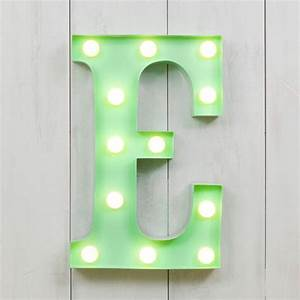 vegas metal led circus letter light f by all things With letter e light
