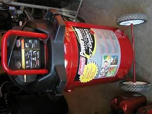 Coleman Upright Air Compressor  27 Gallon  5 5 Peak Hp For