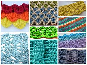 Interesting And Unique Crochet Stitches      Free Patterns