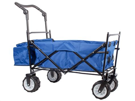 folding wagon with canopy blue outdoor push folding wagon canopy garden utility