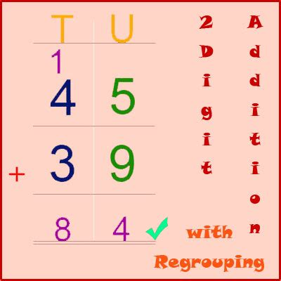 add  digit numbers  regrouping  digit
