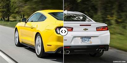 Camaro Mustang Ford Chevrolet Rear Comparison Quarter