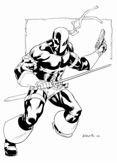 Deathstroke Sketch Drawings Atkins Robert Drawing Comic