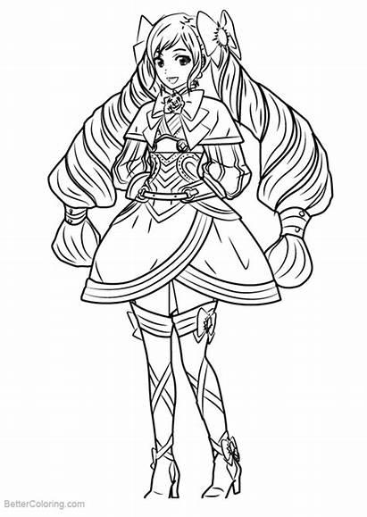 Fire Emblem Coloring Pages Elise Draw Printable