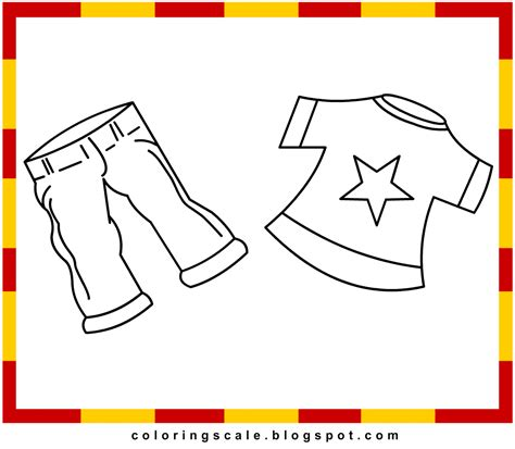 Coloring Clothes by Clothes Pictures For Colouring Metro Pic
