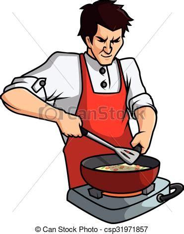 dessin animé cuisine vecteur clipart de vecteur cuisine homme dessin animé