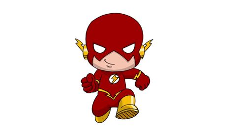 comment dessiner flash style chibi flash drawing youtube