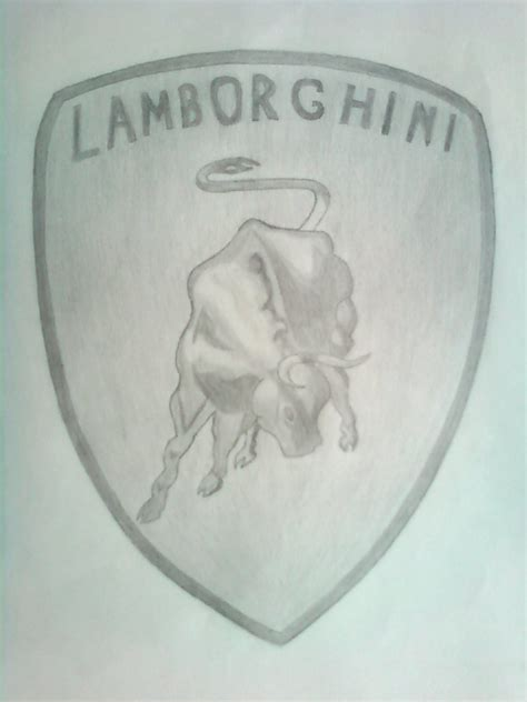 drawn lamborghini lamborghini logo pencil   color