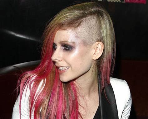 Celebrity Hairstyles: Avril Lavigne Rainbow Hairstyles