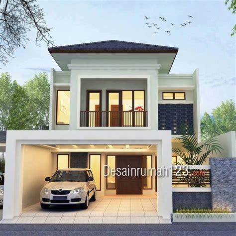 desain rumah model tropis  lantai  lahan