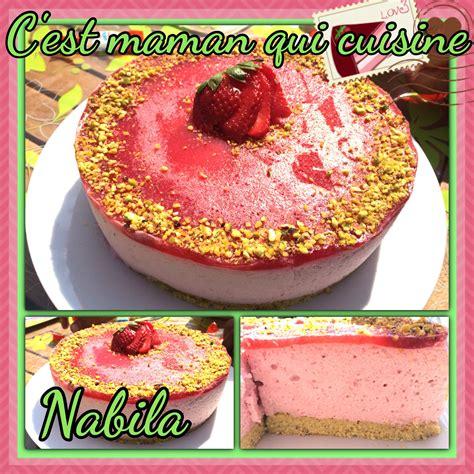 hervé cuisine bavarois bavarois fraises sur genoise pistache c 39 est maman qui