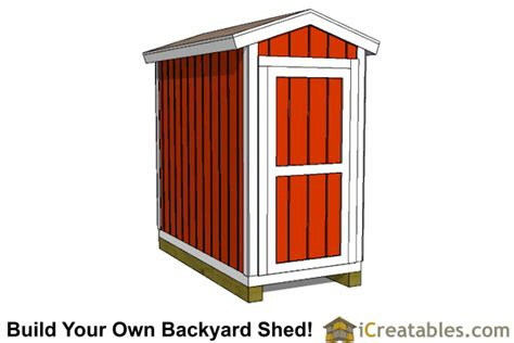 4x8 Shed Plans  4x8 Storage Shed Plans Icreatablescom
