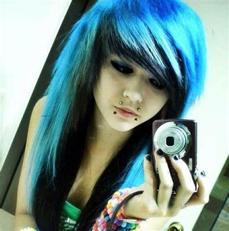 Love The Blue Emo Girls