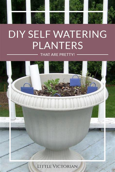 diy self watering planter options