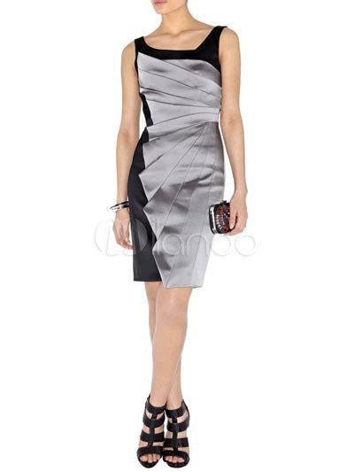 modern western gray sleeveless acetate fiber polyester