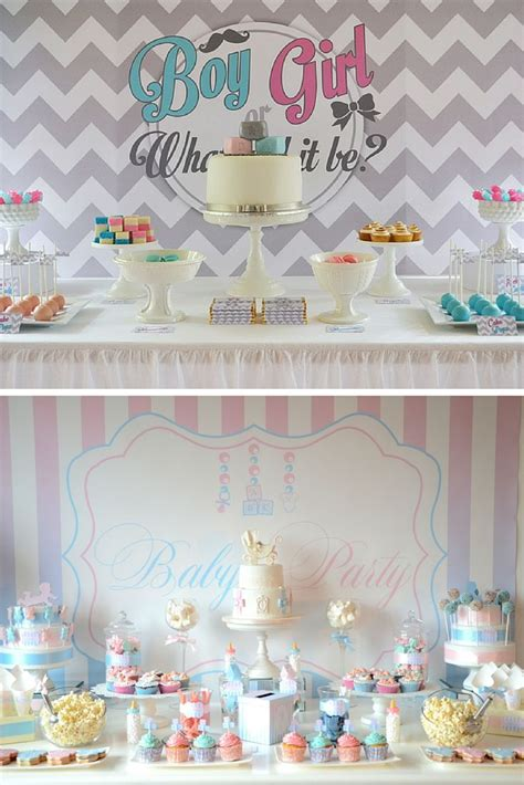 baby shower mixte idees deco pour le buffet idee deco