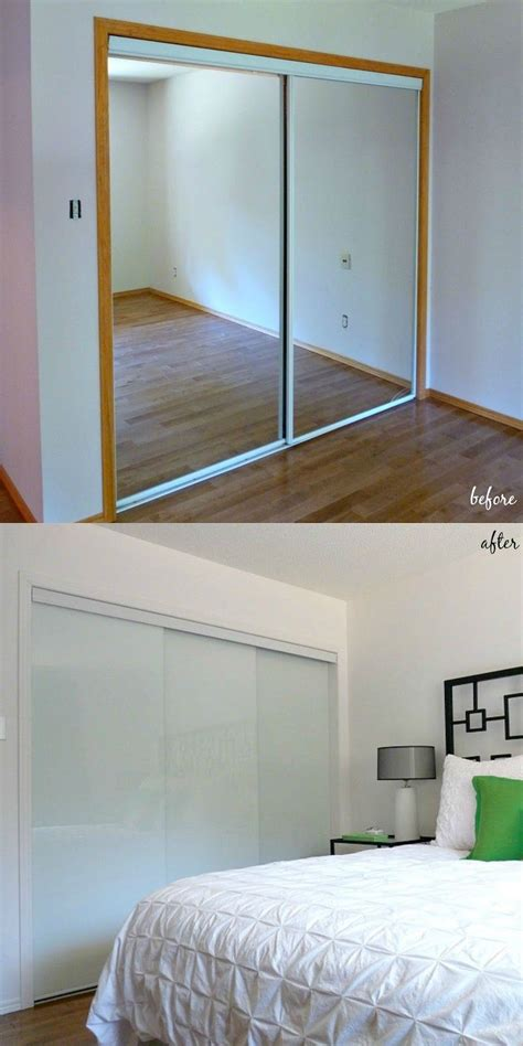 Doors For Bedroom Closets by New White Glass Sliding Closet Doors In The Bedroom