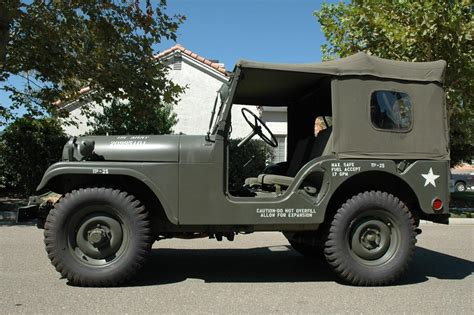 military jeep front 1954 jeep m138a military 2 door utility 44778