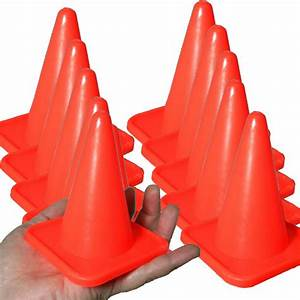 New 10 Pack 4 Inch Orange Cones For Rc Racing Traffic