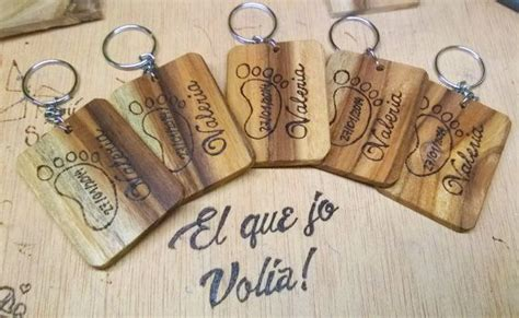 Key Rings Wood Pirograbada 100% Custom