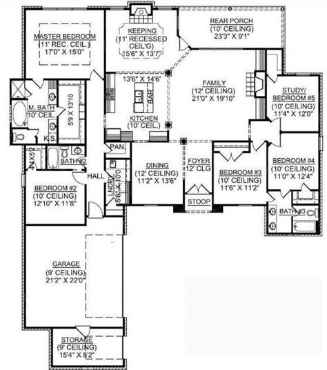 5 6 bedroom house plans 1 5 bedroom