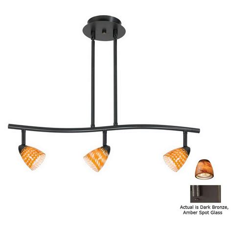 shop cal lighting serpentine 3 light standard bronze