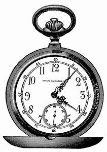 Vintage Clip Art - Marvelous Pocket Watch - Steampunk ...